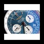 BREITLING STYLISH NAVITIMER BLUE SILVER CHAIN 87552
