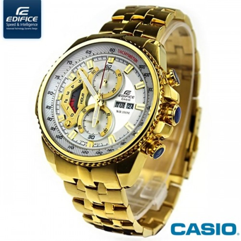 532f8dbb491 casio edifice chronograph ef-558fg gold