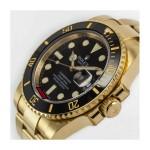 ROLEX SUBMARINER YELLOW GOLD BLACK DIAL 8987