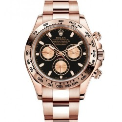 ROLEX COSMOGRAPH DAYTONA OYSTER, ROSE GOLD BLACK